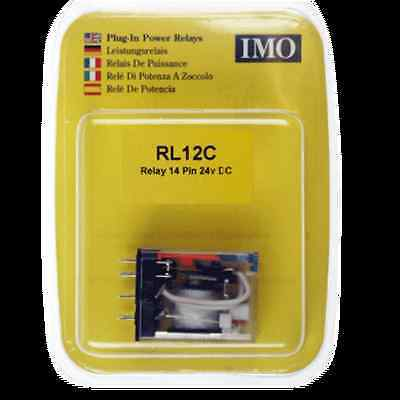 IMO Miniature Plug In Intermediate Power Relay 4 Pole 14 Pin 24v DC 7A Switching