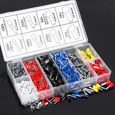 1200 Pcs assortiment assemblageEmbouts cablage cosse Cable electrique Colore