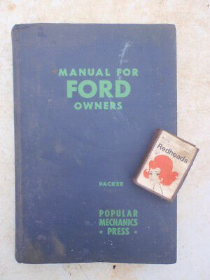 "1952  Ford"" Owners Manual  illustrated 300 pages"
