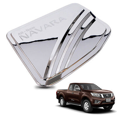 For 15+ Nissan Navara NP300 Frontier D23 2WD Fuel Tank Cap Cover Chrome