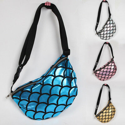 Women Bag Mermaid Sequin Bum Bag Waist Fanny Pack Belt Pouch Wallet Purse MAD