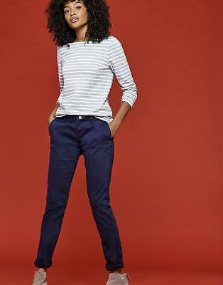Joules Hesford Womens Chinos with Back Pockets in Cotton Mix in French Navy