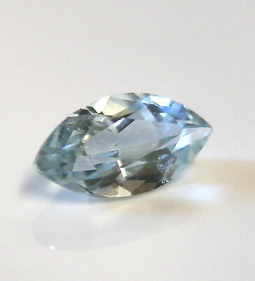 Natural earth-mined marquise cut blue aquamarine gemstone... 0.75 carat