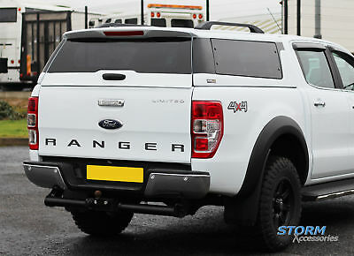 Ford Ranger T6 Double Cab 2012 On Ridgeback Platinum Hardtop - Frozen White 7Vt