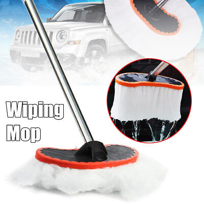 Car Adjustable Telescopic Wiping Soft Milk Silk Mop Cleaning Wash Brush Tool