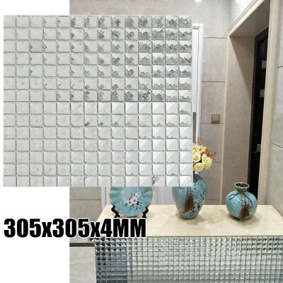 11 Sheet Mirror Tiles Sliver Crystal Diamond Mosaic Tile Backsplash Bevel Glass
