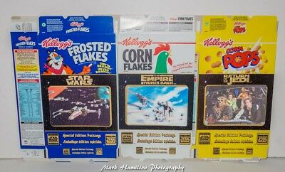 Star Wars Kelloggs Cereal Boxes Full Set 3D Lenticular Front Illusion Art 1996