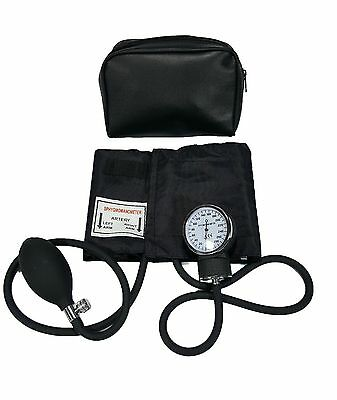 LINE2design Adult Aneroid ARM Blood Pressure Cuff & Case FDA Approved - Black