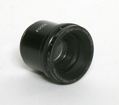 Used Leitz Focotar 9.5cm F4.5 Enlarger Lens With Focusing Ring
