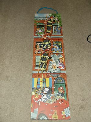 "Fireman My Growth Chart Firehouse Up To 60"" Cardboard Solid Ladders Fold up"