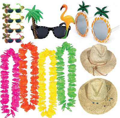 Adults Hawaiian Novelty Accessories Hula Luau Zulu Lot Fancy Dress Costume
