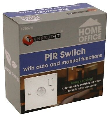 Connect IT Passive Infrared PIR Auto Manual Function Light Switch