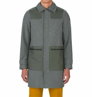 Under Armour UAS Fieldhouse Trench Coat - LARGE - 1296971 Grey Olive Army Long