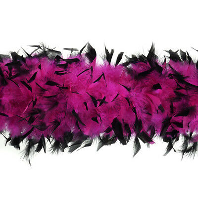Feather Boa Thick Luxury High Quality Black Pink 80G Gatsby School Flapper Uk