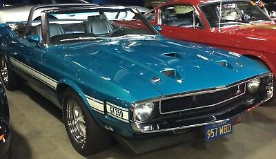 1969 Shelby GT350 GT-350 COBRA 1 of 194 Total Production CV 1970 Ford Shelby Cobra Mustang GT 350 Convertible 1 of 57 built total production