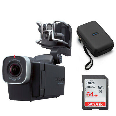 Zoom Q8 Handy Video Recorder with Zoom SCQ-8 Carrying Case and 64GB SD Card