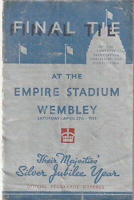 1935 F.A. Cup Final Programme, Sheffield Wednesday v West Bromwich Albion.