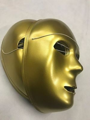 Bulk Of 20 Gold Halloween Fancy Dress Mask Scary Events Costume Accessory Uk