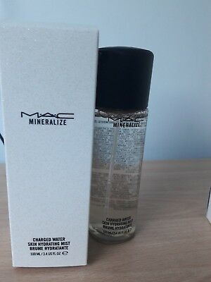 New in Box MAC Mineralize Charged Water Skin Hydrating Mist 100ml