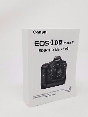 Canon EOS-1DX Mark II Genuine Instruction Owners Manual Book Original NEW