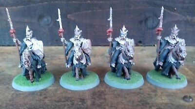 Lord Of The Rings Morgul Knights x4 (metal) Games Workshop. 1999.