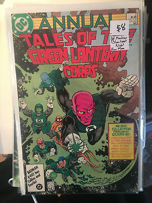 TALES OF THE GREEN LANTERN CORPS ANNUAL #2 VF+ 1ST BLACKEST NIGHT Alan Moore