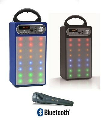 Altavoz Portatil Led Altavoces Bluetooth Usb Radio Fm Karaoke Bateria Recargable