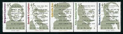 Weeda Canada 1626ai VF mint NH Unfolded strip of 5, 1996 Annual Collection CV $9