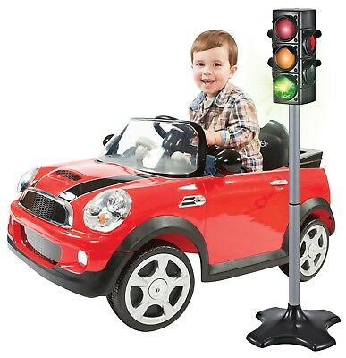 Toy Traffic Crosswalk Signal with light Sound - 4 sided over 2 feet tall