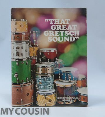 1971 GRETSCH Drum Catalog, No. 45, VG Cond. 40 pages. Satin Flames Sparkles NR