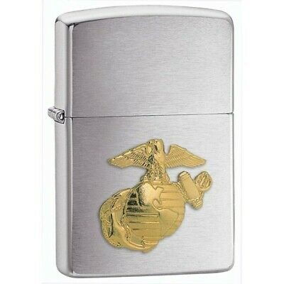 Marine Corps Chrome Zippo Official Licensed Lighter U.s Military Marines Corps