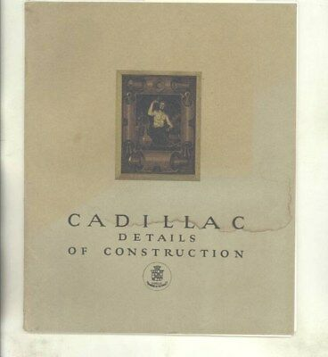 1920 1921 Cadillac Type 59 Details of Construction Brochure & Blueprints wy8929