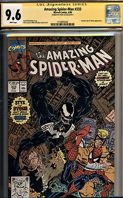 Amazing Spider-Man #333 Cgc 9.6 Signed  By Stan Lee-Venom Cover And Story-