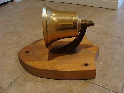 RCN Royal  Canadian Navy Chief & Petty Officer's Brass Mess Bell Patricia Bay