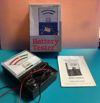 Vtg. Micronta Battery Tester with Original Box and Paperwork Cat. No. 22-031