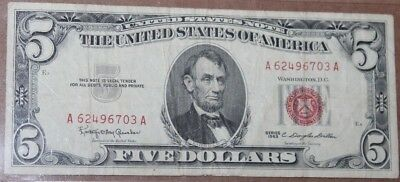 Series of 1963 $5.00 United States Note Auction - $0.99 Bid Start - Free Ship