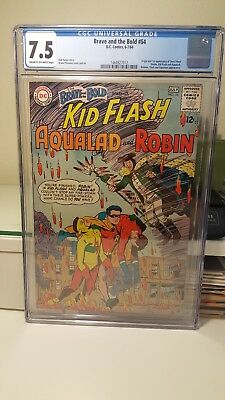 The Brave And The Bold #54.     (Cgc. 7.5)    ~1St App. Of The Teen Titans~ 1964