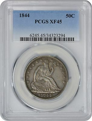 1844 Liberty Seated Half EF45 PCGS Extra Fine 45