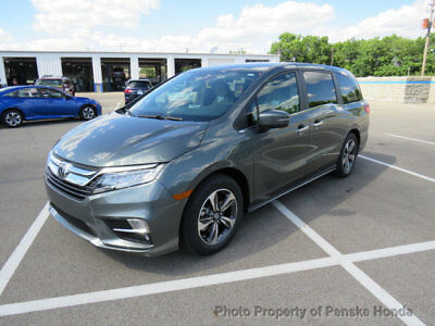 2018 Honda Odyssey Touring Automatic Touring Automatic New 4 dr Van Automatic Gasoline 3.5L V6 Cyl Forest Mist Metall
