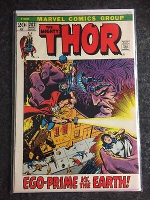 Thor #202 First Appearance Of Ego-Prime Guardians Of The Galaxy Rare Us Cent Mar