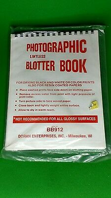 photographic blotter book for dark room