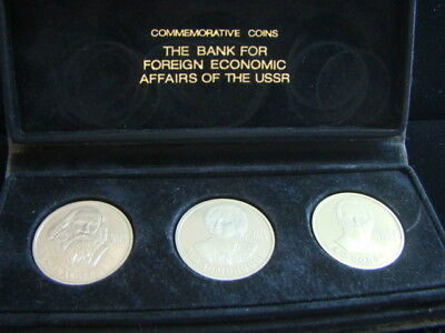 USSR Bank For Foreign Economic Affairs 1984/86 Proof Commemorative Coins Nice!!