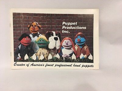 Vintage 1976 Puppet Productions, Inc. Professional Puppet Catalog