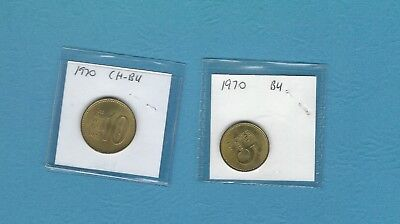 Korea 1970   5 Won and 10 Won   BU
