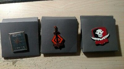 3 Authentic CSGO Collectible Pins | Series 2 | Include Unscratched Code