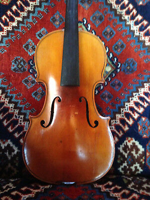 Old / Antique Violin Labeled Gustave Bernadel