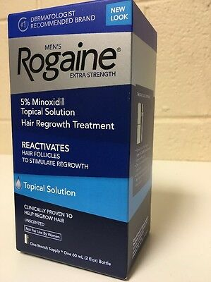 Men's Rogaine 5% Minoxidil Topical Solution Hair Regrowth Treatment 1 month 60ml