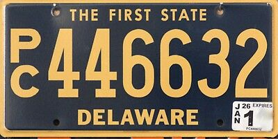 USA Number Licence Plate DELAWARE