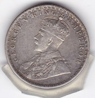 1919   One  Rupee  India - British  Silver Coin
