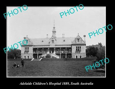 OLD LARGE HISTORIC PHOTO OF ADELAIDE CHILDRENS HOSPITAL ca1889, SA